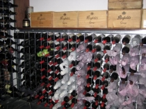 wine racks with carton storage on top