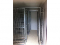 galvanised wine racks in coolroom