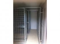 galvanised wine racks in coolroom