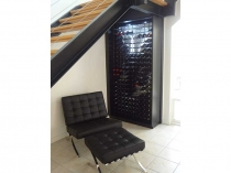 powder coated wine racks under stairs