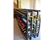 back to back powder coated wine racks