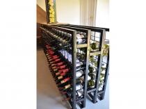 back to back powder coated wine racks
