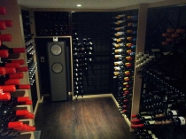 wine racks in a cool room