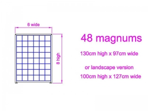 8 high x 6 wide Magnum Wine Rack